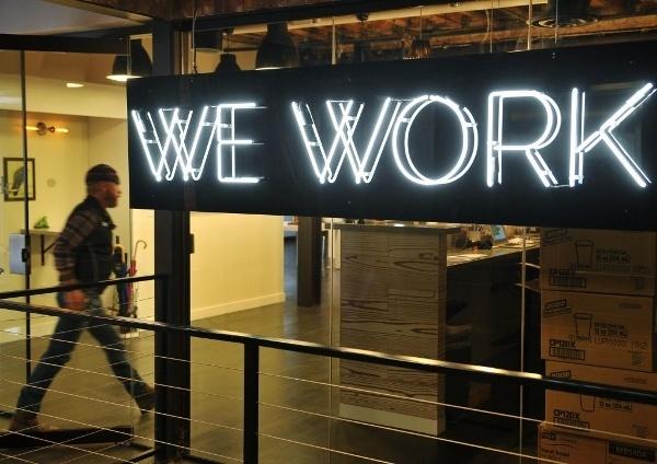 Letrero de Wework xtrategik